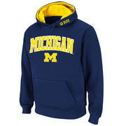 Men's Stadium Athletic Navy Michigan Wolverines Arch & Logo Pullover Hoodie