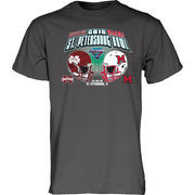 Men's Blue 84 Charcoal Miami University RedHawks vs. Mississippi State Bulldogs 2016 St. Petersburg Bowl Dueling T-Shirt