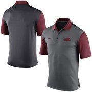 Men's Nike Gray Arkansas Razorbacks 2015 Coaches Preseason Sideline Polo
