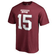 Men's Fanatics Branded Dak Prescott Maroon Mississippi State Bulldogs Name & Number T-Shirt