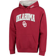 Men's Crimson Oklahoma Sooners Arch & Logo Pullover Hoodie