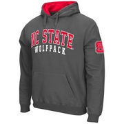 Men's Stadium Athletic Charcoal NC State Wolfpack Double Arches Pullover Hoodie