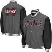 Men's Colosseum Charcoal Mississippi State Bulldogs Class Letterman II Jacket