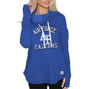 Women's Original Retro Brand Royal Air Force Falcons Triblend Funnel Neck Sweatshirt