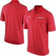 Men's Nike Red Georgia Bulldogs Stadium Stripe Performance Polo