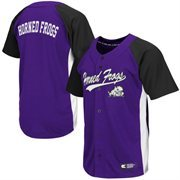 Men's TCU Horned Frogs Purple Dugout Baseball Jersey