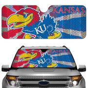 Kansas Jayhawks 23'' x 57'' Reflective Auto Sun Shade