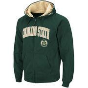 Men's Stadium Athletic Green Colorado State Rams Arch & Logo Full Zip Hoodie