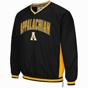 Men's Colosseum Black Appalachian State Mountaineers Fair Catch Pullover Jacket