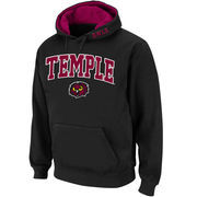 Men's Stadium Athletic Black Temple Owls Arch & Logo Pullover Hoodie