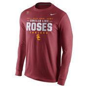 Men's Nike Cardinal USC Trojans 2017 Rose Bowl Bound Verbiage Long Sleeve T-Shirt