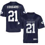 BYU Cougars Fan Football Jersey - Navy Blue