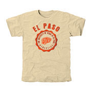 UTEP Miners Old-School Seal Tri-Blend T-Shirt - White