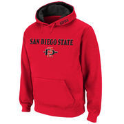 Men's Stadium Athletic Cardinal San Diego State Aztecs Arch & Logo Pullover Hoodie