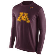 Men's Nike Maroon Minnesota Golden Gophers Cotton Logo Long Sleeve T-Shirt