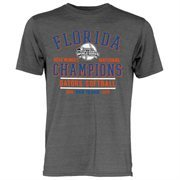 Men's Heather Gray Florida Gators 2015 NCAA Women's Softball College World Series Champions Back-to-Back Tri-Blend T-Shirt