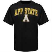 Mens Black Appalachian State Mountaineers Arch Over Logo T-Shirt
