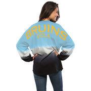 Women's Blue UCLA Bruins Ombre Long Sleeve Dip-Dyed Spirit Jersey