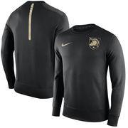 Men's Nike Black Army Black Knights 2015 Sideline KO Performance Fleece Crew Sweatshirt