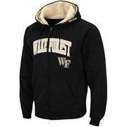 Men's Stadium Athletic Black Wake Forest Demon Deacons Arch & Logo Full Zip Hoodie