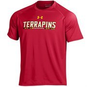 Men's Under Armour Red Maryland Terrapins On-Field Graphics Performance T-Shirt