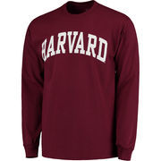 Men's Crimson Harvard Crimson Basic Arch Long Sleeve T-Shirt