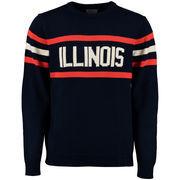 Men's Hillflint Navy Illinois Fighting Illini Vintage Stadium Knit Sweater