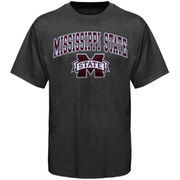 Men's New Agenda Charcoal Mississippi State Bulldogs Arch Over Logo T-Shirt
