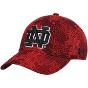 Men's Under Armour Red Notre Dame Fighting Irish Signal Caller Adjustable Hat