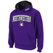 Men's Stadium Athletic Purple Northwestern Wildcats Arch & Logo Pullover Hoodie
