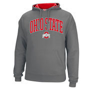 Men's  Charcoal Ohio State Buckeyes Arch Logo Pullover Hoodie