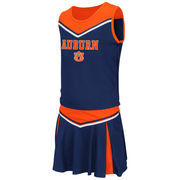 Girls Youth Colosseum Navy Auburn Tigers Aerial Cheer Set