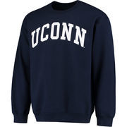 Men's Navy UConn Huskies Basic Arch Sweatshirt