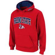 Mens Fresno State Bulldogs Cardinal Red Classic Twill II Pullover Hoodie Sweatshirt