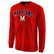 Men's Red Maryland Terrapins Campus Long Sleeve T-Shirt