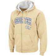 Men's Stadium Athletic Gold Georgia Tech Yellow Jackets Arch & Logo Full Zip Hoodie