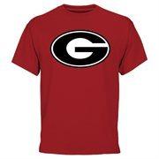 Mens Georgia Bulldogs Red Core Logo T-Shirt