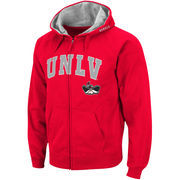 Men's Stadium Athletic Red UNLV Rebels Arch & Logo Full Zip Hoodie