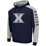 Mens Xavier Musketeers Thriller II Pullover Hoodie - Navy Blue