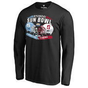 Men's Fanatics Branded Black North Carolina Tar Heels vs. Stanford Cardinal 2016 Sun Bowl Motion Matchup Long Sleeve T-Shirt