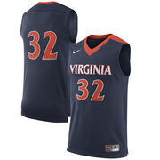 Men's Nike #32 Navy Virginia Cavaliers Replica Basketball Jersey