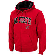 Men's Stadium Athletic Red NC State Wolfpack Arch & Logo Full Zip Hoodie