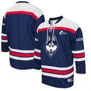 Men's Colosseum Navy UConn Huskies Hockey Jersey