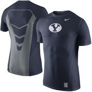 Men's Nike Navy BYU CougarsSideline Hypercool 3.0 Dri-FIT Fitted Performance Top
