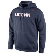 UConn Huskies Nike Warp Logo Therma-FIT Hoodie - Navy Blue
