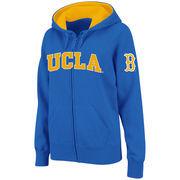Women's Stadium Athletic Blue UCLA Bruins Arched Name Full-Zip Hoodie