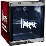 Nebraska Cornhuskers Refrigerated Beverage Center with Glass Door