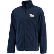 Men's Columbia Navy Pitt Panthers Flanker Full-Zip Jacket