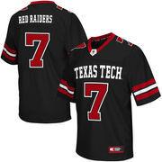 Men's Colosseum #7 Black Texas Tech Red Raiders Big & Tall Football Jersey