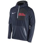 Men's Nike Navy Ole Miss Rebels 2016 Sideline Vapor Fly Rush Half-Zip Pullover Jacket